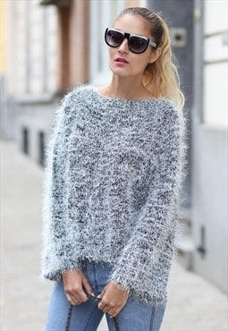 Fluffy Wide Sleeve Top