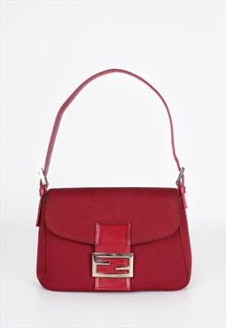 Vintage Fendi Red Structured Handbag
