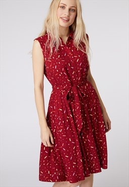 Princess Highway Red Confetti Sleeveless Dress