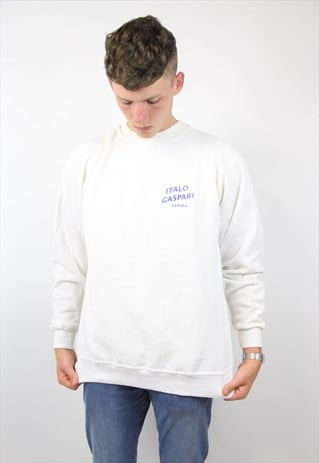VINTAGE WHITE SPORTS SWEATSHIRT