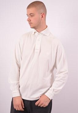 Vintage Versace Polo Shirt Long Sleeve White