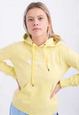 Vintage Champion Hoodie Yellow