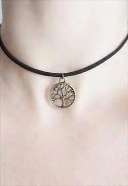 tree of life choker - suede choker