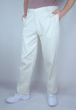 Vintage casual milk white trousers