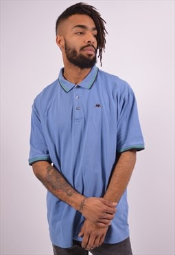 Robe Di Kappa Mens Vintage Polo Shirt XXL Blue 90s