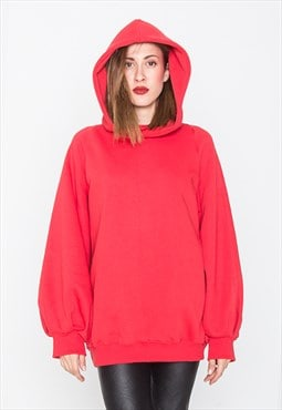 Oversized Hoodie with Puffy Sleeves
