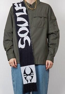 Vintage black Soulfly graffiti scarf
