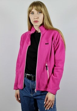 Helly Hansen Full Zip Flecce Jacket Pink 90s