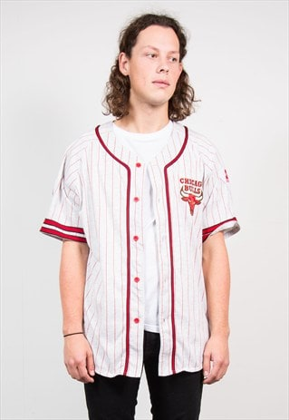 VINTAGE 90'S CHICAGO BULLS NBA BASEBALL STYLE JERSEY