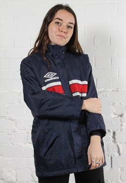 Vintage Umbro Windbreaker Jacket in Navy w/ Spell Out Logo