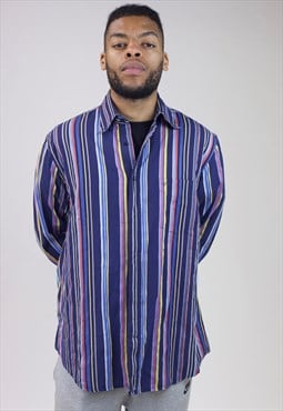 Vintage Paul & Shark Navy Striped Shirt