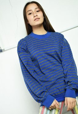 Vintage 90's retro striped thin sweatshirt jumper