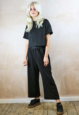 Black Crop Pants Co-ordinates