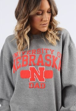 Sweatshirt Jumper Oversized UNIVERSITY Logo Print 16 18 H8CU