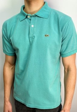 Vintage Lacoste polo shirt in aqua