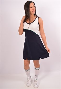 Vintage Sergio Tacchini Tennis Dress Navy Blue