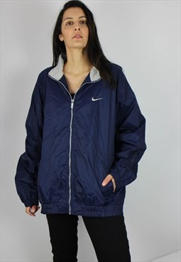 Vintage Nike Sports Nylon Jacket w Tick Logo Front & Back