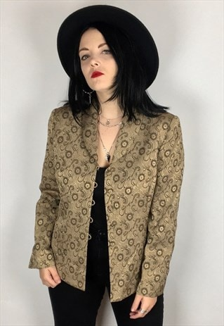 PATTERNED BLAZER JACKET SIZE 12