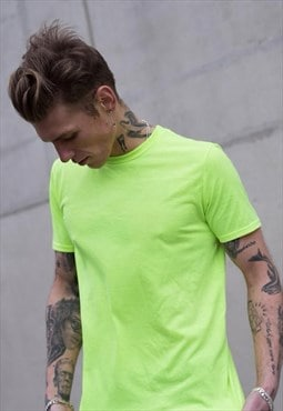 54 Floral Premium Essential T-Shirt - Neon Green Yellow