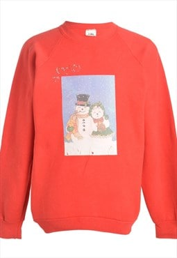 1990s Snowman Christmas Sweatshirt - XL