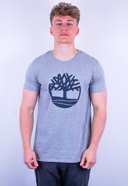 Vintage Timberland Organic Cotton T-Shirt in Grey