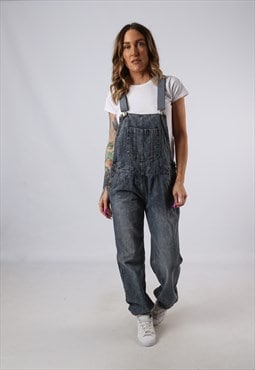 Vintage Denim Dungarees BICH REWORKED UK 12 Medium (JACT)