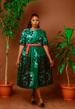 Green Midi Ball dress