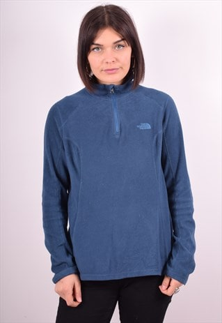 THE NORTH FACE WOMENS VINTAGE FLEECE JUMPER MEDIUM BLUE 90S