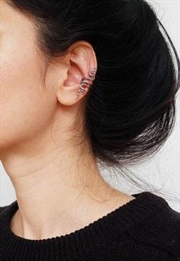 Snake Sterling Silver Ear Cuff