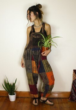 Fairtrade Patchwork Hippie Dungarees