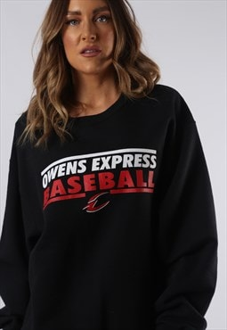 Sweatshirt Jumper Oversized BASEBALL Print UK 16 XL (HCCV)