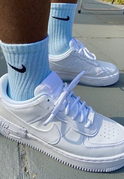 Pastel Blue customised Nike socks