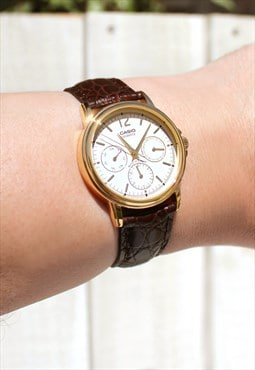 Casio Gold Chronograph Watch (Japanese Import)