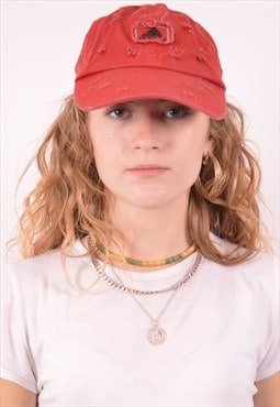 Adidas Womens Vintage Cap One Size Red 90s