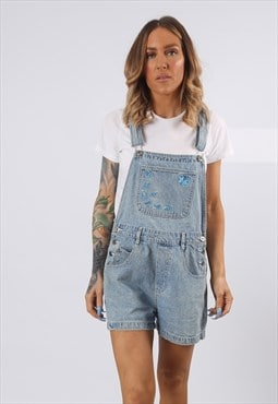 Denim Dungaree Shorts RUE 21 Vintage UK 12 (E5DE)