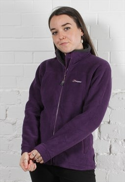 Vintage Berghaus Fleece in Purple w/ Spell Out Logo