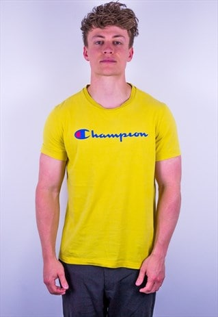 Vintage Champion T-Shirt in Yellow