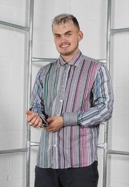 Vintage Ted Baker Shirt in Multi Stripe Large