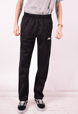 Asics Mens Vintage Tracksuit Trousers Medium Black 90s