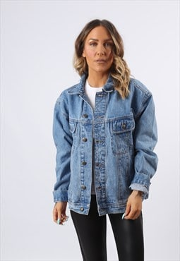 Denim Jacket WRANGLER Oversized Fitted UK 16  (983O)