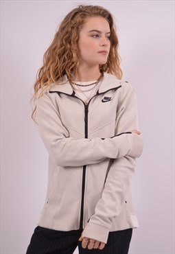 Nike Womens Vintage Hoodie Sweater Small Beige 90s