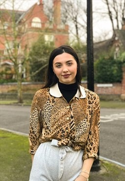 Animal Print Lottie Blouse