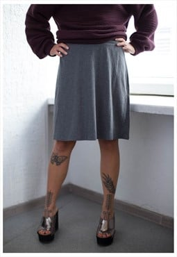Vintage 90's Grey Stretchy Midi Skirt