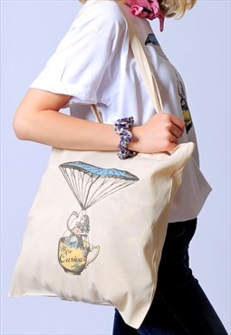 Alice How Curious Tote Bag