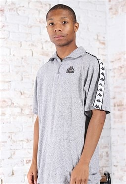 Vintage Kappa Embroidered Logo Top Grey