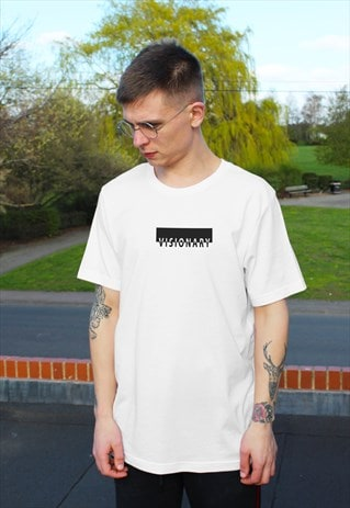 Visionary graphic print T-shirt in White