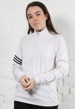 Vintage Adidas Track Jacket in White w/ Spell Out Logo