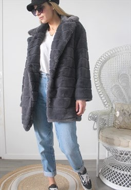 Vintage faux fur coat one size
