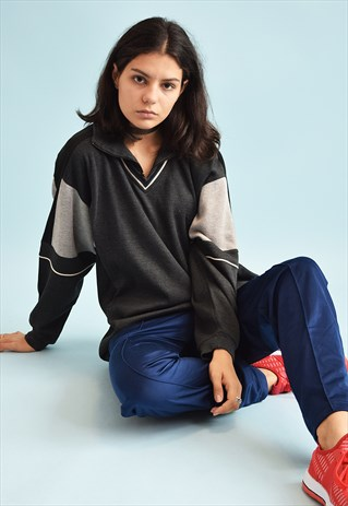 90'S RETRO ATHLEISURE SPORTS SWEATSHIRT JUMPER TOP