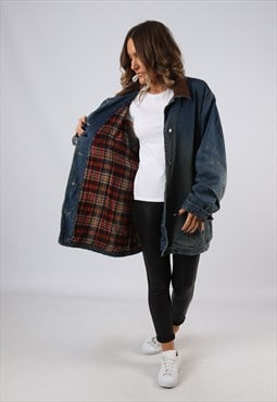 Denim Jacket Winter Lined Oversized Long UK 22 - 24 (GJCB)